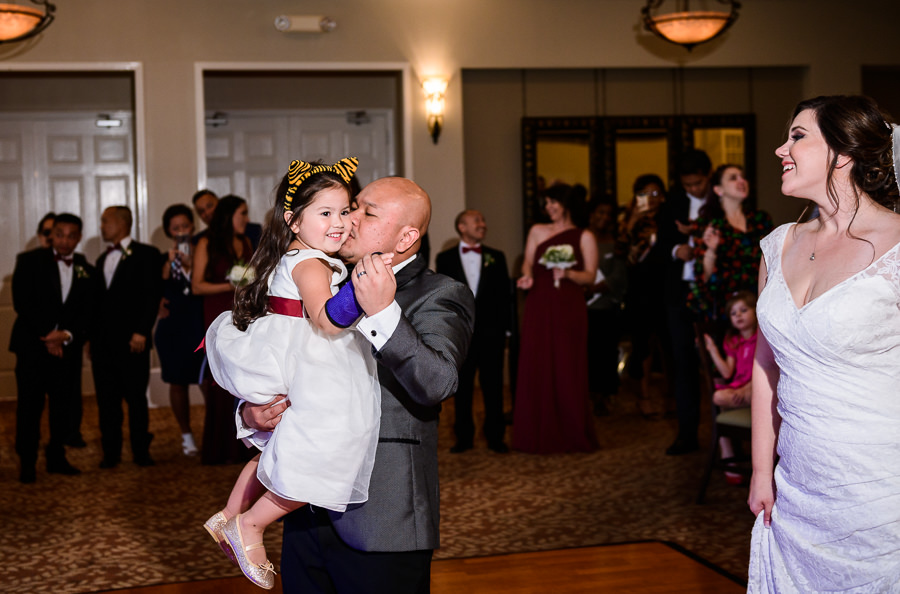 Father daughter dance with Groom and his daughter, Scenic Hills Country Club, multicultural filipino wedding, Catholic country club wedding, Pensacola Florida, Lazzat Photography