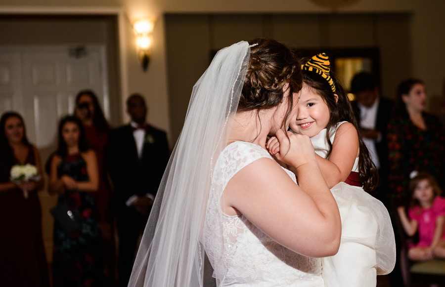 Mother daughter dance with Bride and her daughter, Scenic Hills Country Club, multicultural filipino wedding, Catholic country club wedding, Pensacola Florida, Lazzat Photography