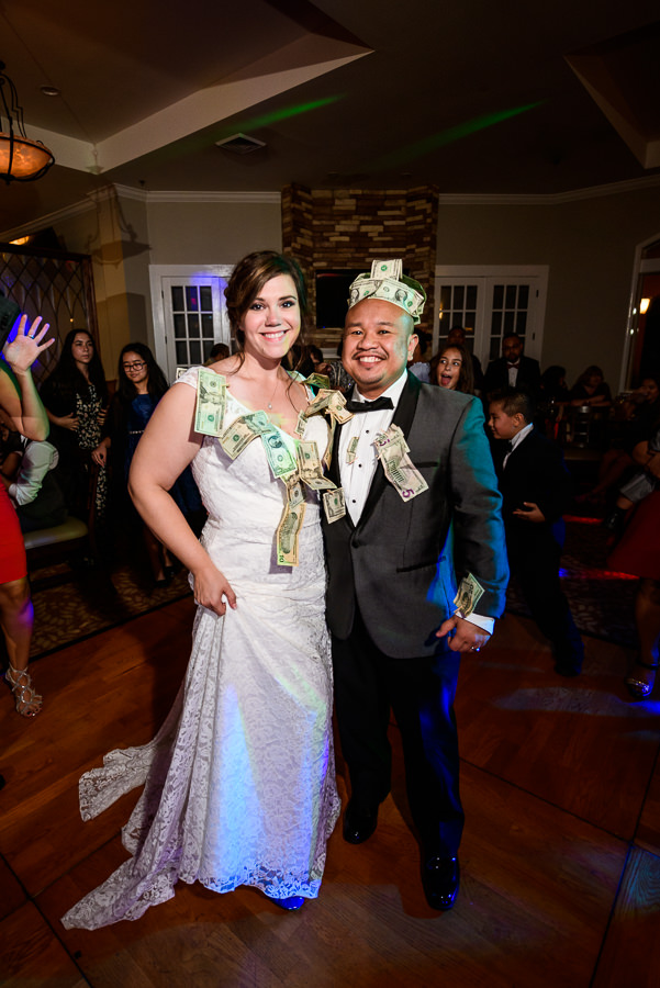 Bride and Groom after their money dance, Scenic Hills Country Club, filipino wedding, Catholic country club wedding, Pensacola Florida, Lazzat Photography