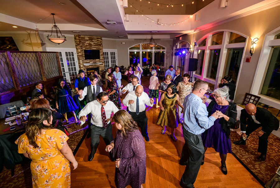 Guests dancing during the reception, Scenic Hills Country Club, Catholic country club wedding, Pensacola Florida, Lazzat Photography