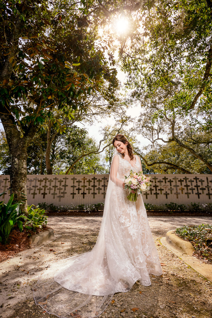Bride outside the Destin Bay House Wedding, Destin Florida, Lazzat Photography, Florida wedding photographer, Orlando wedding photographer