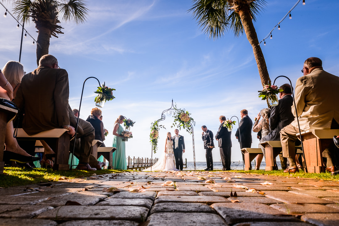 Bride and Groom during the outdoor wedding ceremony, Destin Bay House Wedding, Destin Florida, Lazzat Photography, Florida wedding photographer, Orlando wedding photographer